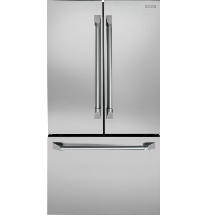 ZWE23PSHSS GE Monogram Energy Star 23.1 Cu. Ft. Counter Depth French-Door Refrigerator with TwinChill Evaporators - Stainless Steel