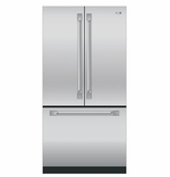 ZWE23PSHSS GE Monogram Energy Star 23.1 Cu. Ft. Counter-Depth French-Door Refrigerator with TwinChill Evaporators - Stainless Steel