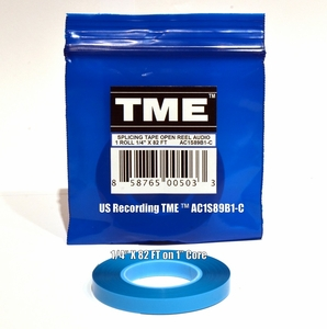 "TME™ Professional Splicing Tape for 1/4"" Recording Media 82' Poly Pack© UPC# 858765005033"