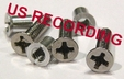 "Hardware Set for 1/2"" NAB by TME� Three Screw Metal Reels"