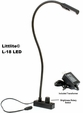 "Littlite L-18-LED 18"" Gooseneck Light with 398 Lux Gen V LED Light Source and Transformer"