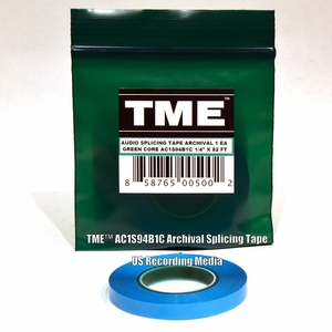 "TME� True Studio/Archival Splicing Tape AC1S94B1C for 1/4"" Recording Tape 82' Poly Pack�"