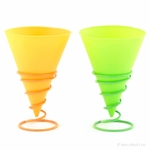 Silicone Snow Cone Cups with Holders