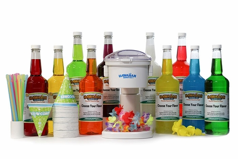 Big Kahuna Snow Cone Package with Electric Snow Cone Machine