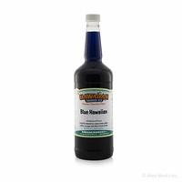 Blue Hawaiian Shaved Ice and Snow Cone Syrup - Quart