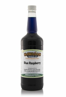 Blue Raspberry Shaved Ice and Snow Cone Syrup - Quart