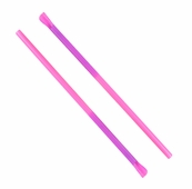 Pink Color Changing Spoon-Straws - 30 Pack