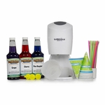Shaved Ice Party Pack with Electric Shaved Ice Machine
