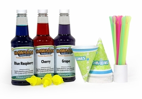 Hawaiian Shaved Ice Syrup - 3 Flavor Fun Pack