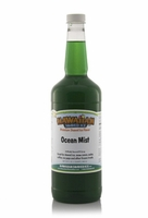 Ocean Mist Shaved Ice and Snow Cone Syrup - Quart