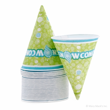 Disposable Paper Snow Cone Cups