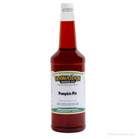 Pumpkin Pie Shaved Ice and Snow Cone Syrup - Quart