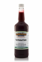 Red Velvet Cake Shaved Ice and Snow Cone Syrup - Quart