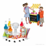 Roadside Shaved Ice Stand Package with Electric Snow Cone Machine