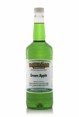 Shaved Ice Quart Size Syrup of the Month � Green Apple