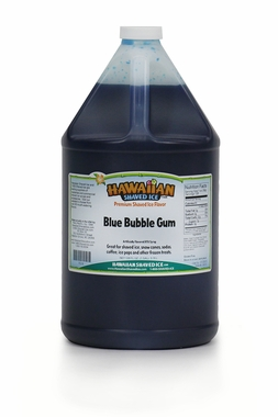 Shaved Ice Gallon Size Syrup of the Month � Blue Bubble Gum