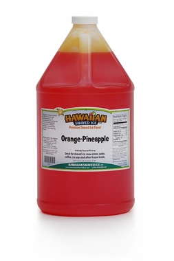 Shaved Ice Gallon Size Syrup of the Month � Orange Pineapple