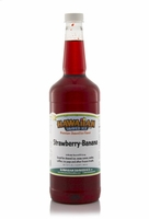Strawberry Banana Shaved Ice and Snow Cone Syrup - Quart