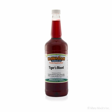 Tiger's Blood Shaved Ice and Snow Cone Syrup - Quart