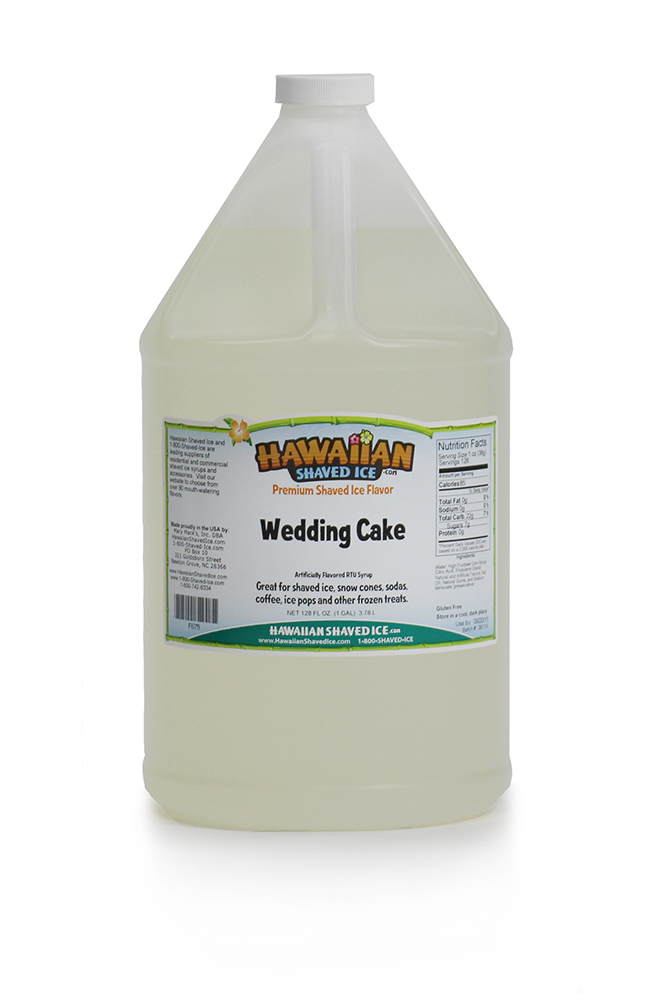 Recipe For Wedding Cake Snow Cone Syrup