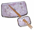 Lilac Cherry Blossom Sushi Set (3-pc Set)