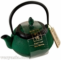 Matte Green Cast Iron Tea Kettle
