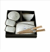 White Cherry Blossom Sushi Serving Set (8-pc set)