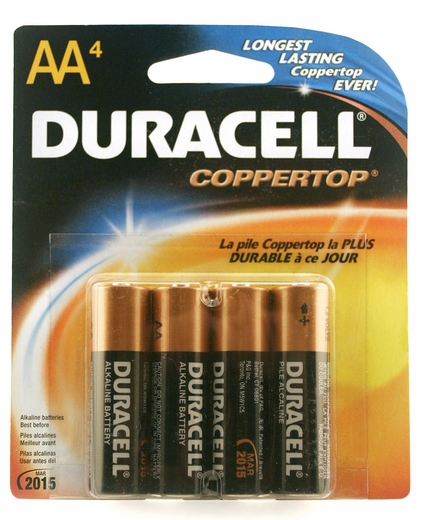 4 AA Duracell Batteries