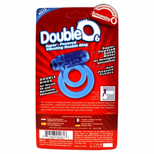 Double O Cock Ring - Two Support Rings