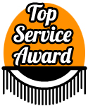 Top Service - Our Most Recent Customer Service Award.