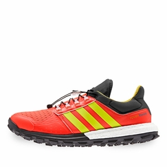 Adidas Adistar Raven Boost Shoe in Red/Yellow