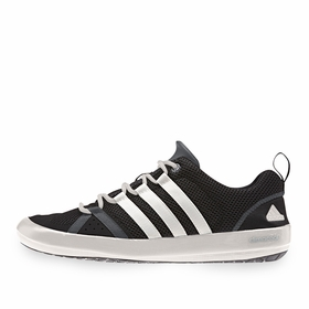 Adidas Climacool Boat Lace Shoe in Black/White/Dark Grey
