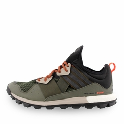 Adidas Response Trail Boost Shoe in Black/Light Brown