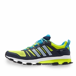 Adidas Supernova Riot 6 Shoe in Blue/Yellow
