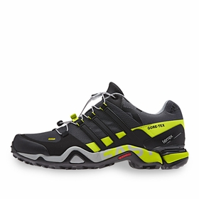 Adidas Terrex Fast R GTX Shoe in Dark Grey/Black/Yellow