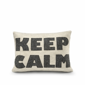 Eco Alexandra Ferguson KEEP CALM Pillow