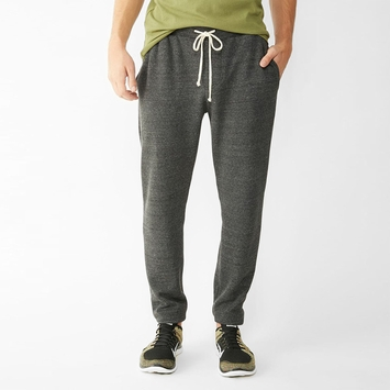 Alternative Apparel Eco Fleece Dodgeball Pant in Eco Black