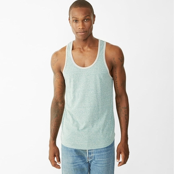 Alternative Apparel Eco Twist Ringer Tank in Sea Green