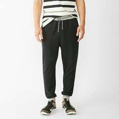 Alternative Apparel French Terry Slouch Pant in True Black