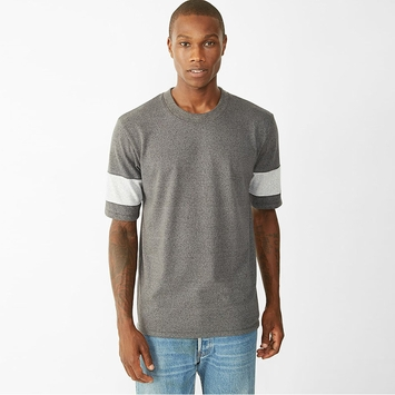 Alternative Apparel Mock Twist Athletic Crew in Eco Black