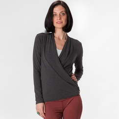 Amour Vert Lizzie Wrap Top in Anthracite