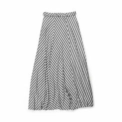 Amour Vert Mia Maxi Skirt in Grey Stripe