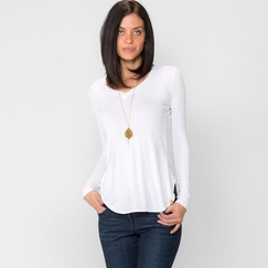 Amour Vert Nessa Top in White