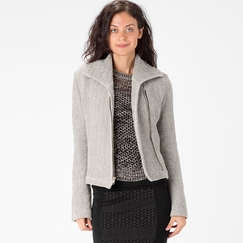 Organic Amour Vert Riley Moto Jacket in Herringbone