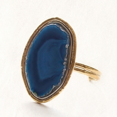 Avindy Blue Agate Cuff