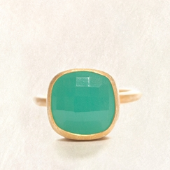 Avindy Chalcedony Cushion Ring in 8