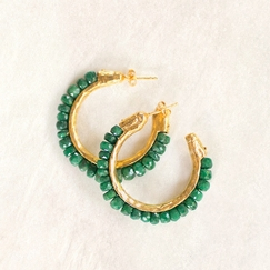 Avindy Channel Hoops in Emerald