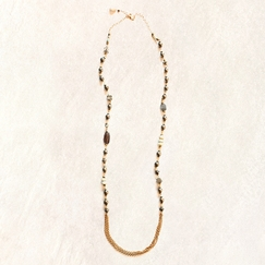 Avindy Draping Pyrite Necklace