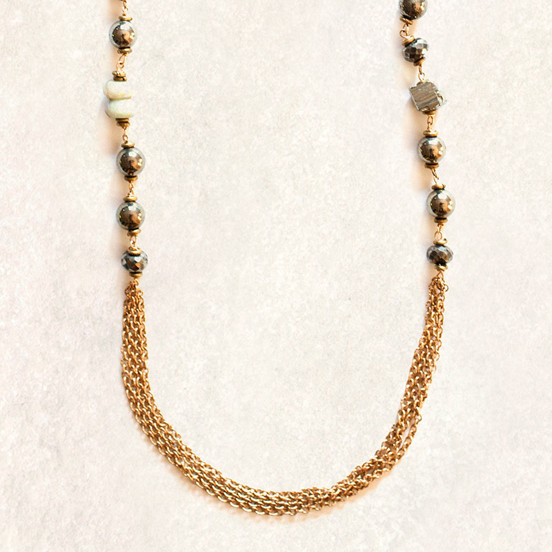 avindy draping pyrite necklace womens apparel at vickerey