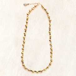 Avindy Hidden Gems In Gold Facets Necklace